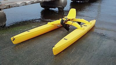 Sea Cycle SOLO Pontoon Catamaran Pedal Paddle Boat Hydro Water Bike Water Kayak