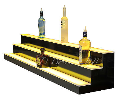55 Led Lighted Liquor Bootle Display Bar Shelf 3 Step Shelves Shelving Home