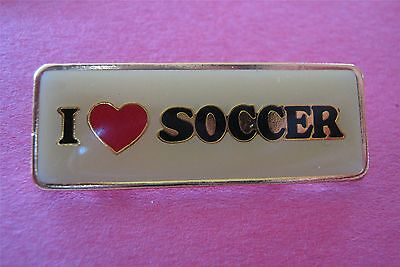 I Love (Heart) Soccer Lapel Pin