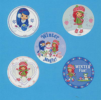15 Strawberry Shortcake Winter - Large Stickers - Party Favors