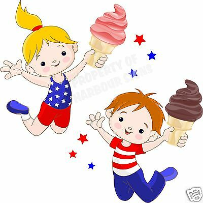 Ice Cream Cones Decal 12 Soft Serve Restaurant Concessionfood Truck Vinyl Menu