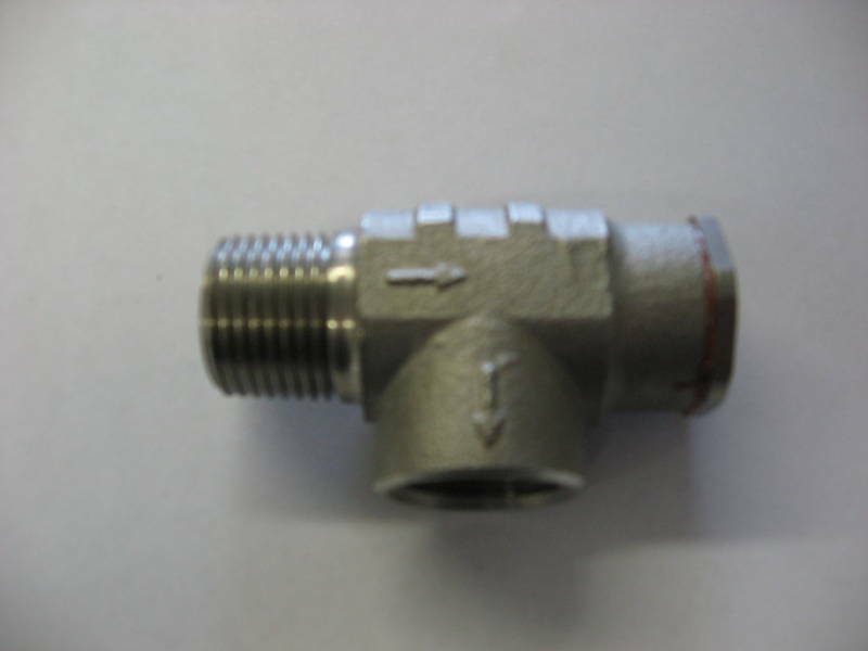 """STAINLESS STEEL 1/2"""" WATER WELL PRESSURE RELIEF VALVE"""