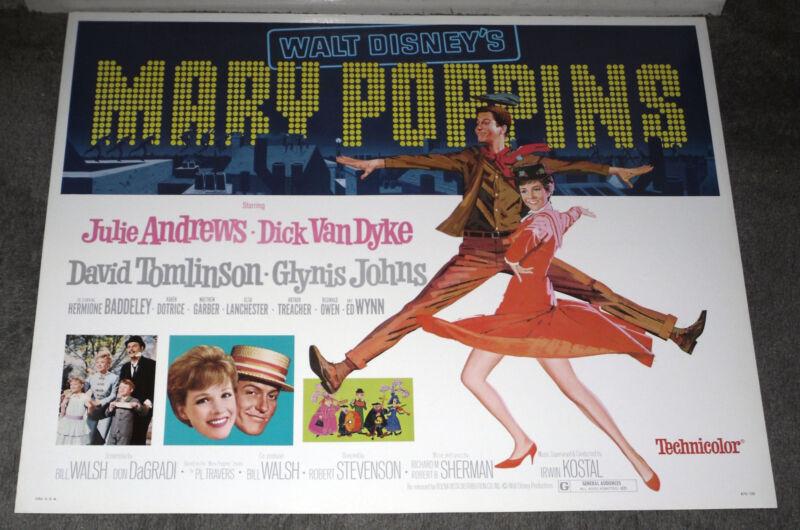 MARY POPPINS original ROLLED 22x28 Disney movie poster JULIE ANDREWS