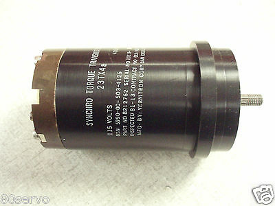 Synchro Torque Transmitter 23tx4a  Mfg. Vernitron 115vac90vac 400hz.