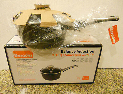 Berndes Balance Induction 3.15QT Saucepan with glass lid model # 077486 NEW !!! Berndes With Lid Sauce Pan