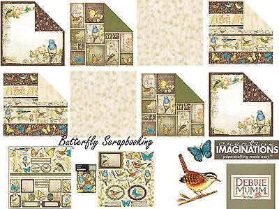 Debbie Mumm Bird - Nature Bird & Butterfly Debbie Mumm 12X12 Scrapbooking Kit Creative Imaginations