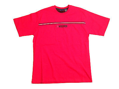 WISCONSIN BADGERS ADULT RED EMBROIDERED SHORT SLEEVE DESIGNER T-SHIRT NEW