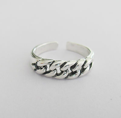 Sterling Silver chain adjustable toe ring