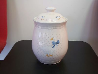 Country Duck, Sugar Canister w Lid, 71/8