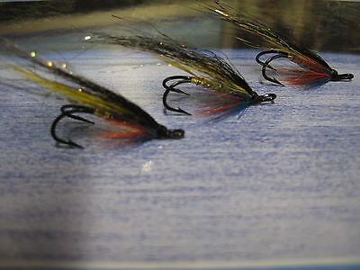 3 V Fly Size 10 Signature RV Holo Silver Cascade Shrimp Treble Salmon Flies