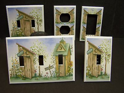COUNTRY OUTHOUSE #1  LIGHT SWITCH COVER PLATE OR OUTLET COVER  1 Light Switch Covers