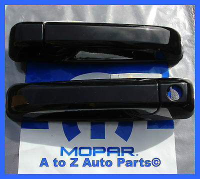 NEW 2012-2014 Dodge RAM,Express BLACK Color Matched FRONT Door Handles,OE Mopar