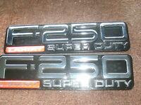 1999 2000 2001 2002 2003 2004 FORD F-250 SUPER DUTY XL FENDER EMBLEMS PAIR NEW