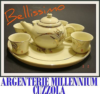 Set Sake' Set Geisha Liquor End Porcelain Eastern Vintage Ceramics Sake