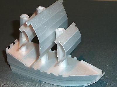 Stryrafoam Boat/Ship. White. Birthday Cake /Craft Decoration. NEW !