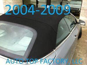 CLK CONVERTIBLE TOP, BLACK GERMAN A5 HAARTZ CANVAS, FITS MERCEDES 2004-2009
