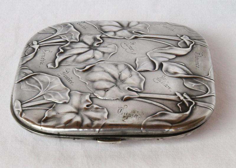 MAGNIFICENT ART NOUVEAU GERMAN 800  STERLING SILVER BOX