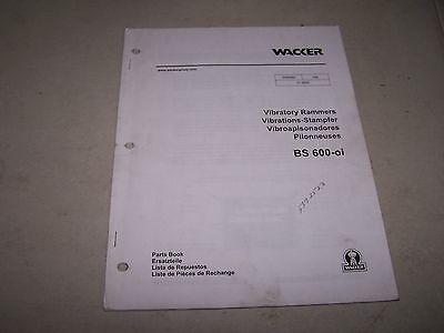 Wacker Bs600-oi Vibratory Rammers Parts Book Manual