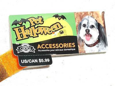 NEW GREAT GRREAT CHOICE L LG LARGE PET DOG CAT HALLOWEEN ORANGE COLLAR NECKLACE](Great Dog Halloween Costumes)