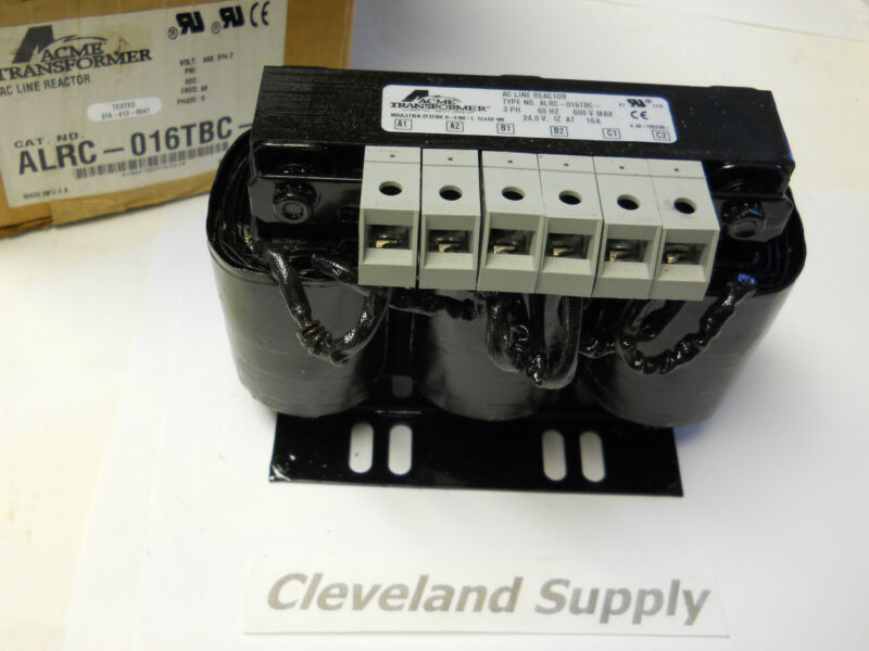 ACME TRANSFORMER ALRC-016TBC AC LINE REACTOR 3PH 600V NEW CONDITION IN BOX