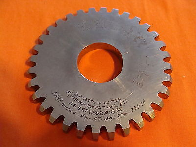 Fellows Gear Cutter Disc Shaper Finishing Non Topping 810 Dp 20 Pa 32 T 1.25 B