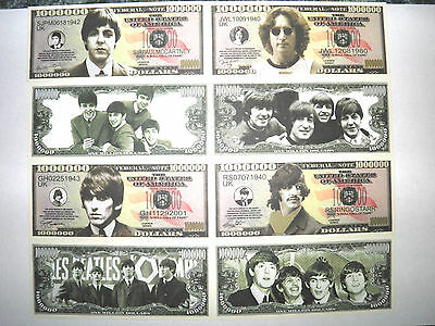 Beatles Money, Paul McCartney, John Lennon, George Harrison, Ringo Starr Dollars