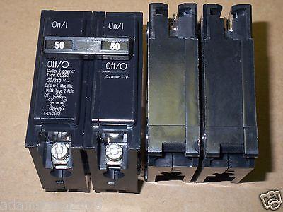 Cutler Hammer Cl Cl250 2 Pole 50 Amp 120240v Circuit Breaker