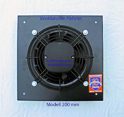 Axial Ventilator / Wandventilator / Lüfter 860 m³/h für Lüftung Abluft Kühlung