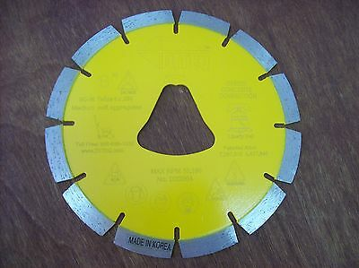 6 Yellow Liberty Bell Blade For Soff Cut Saw - Early Entry Concrete Blade