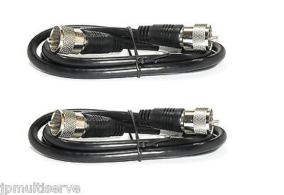2 RG8X Coax 3ft Cable Assemblies 50 ohm with PL259 Connectors. Buy it now for 7.99