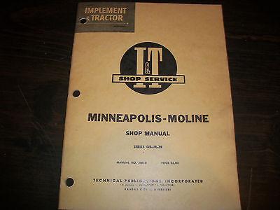 Minneapolis-moline I T Shop Service Manual Series Gb Ub Zb Tractor