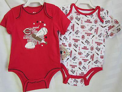 Cincinnati Reds MLB Baseball Infant Baby Body Suit Creeper 12 month Set Lot NEW Baseball Infant Bodysuit