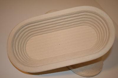 Gärkorb aus Holzschliff für 750 g Teiggewicht oval Rille mit Profirezept PDF