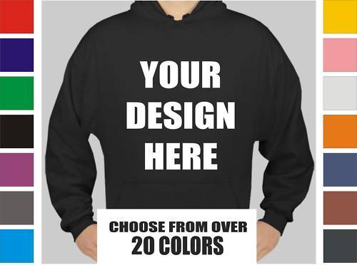24 Custom Screen Printed Hooded Sweatshirts - Hoodies