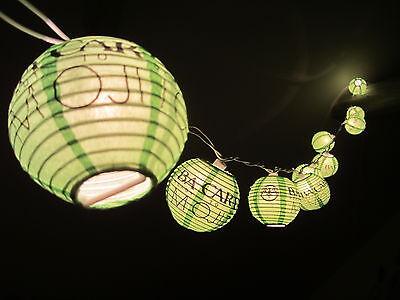 BACARDI MOJITO LICHTERKETTE LAMPIONKETTE - LAMPE LEUCHTE LEUCHTREKLAME NEON BAR