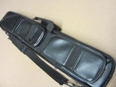 Lucasi LC-3 4x8 Soft Pool Cue Case Black Leatherette w/ FREE (Lucasi Cue Case)
