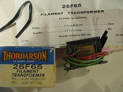 Thordarson Transformer Part 26f65 Nsn 5950-00-682-3884