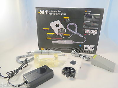 Dental Lab Micromotor Rechargeable Portable White 25.000 Rpm M1 Micronx