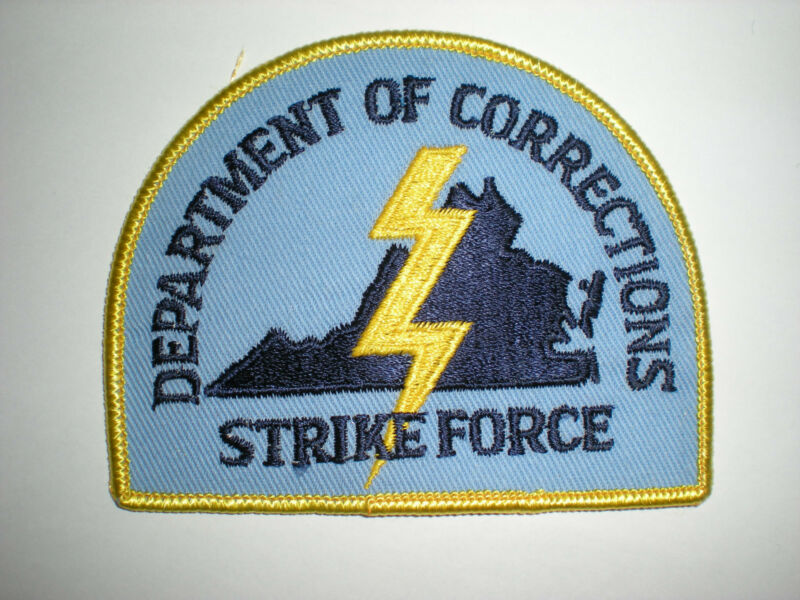 VIRGINIA STATE DEPARTMENT OF CORRECTIONS STRIKE FORCE PATCH