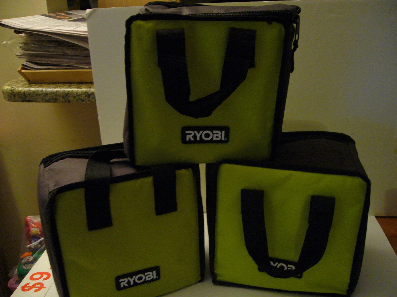 3 Nuevos Ryobi contratista bolsa de herramientas Ajuste de 18 voltios 18v Litio P102 P100 P236 P108 P118