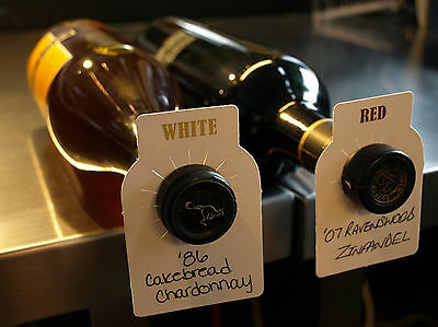 50 Pack Wine Cellar Bottle Tags - Dual Labeled - Bottle Tags