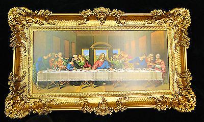 Heiligenbilder Última Cena 97x58 Jesús Cuadro con Marco Icono Jesucristo, usado segunda mano  Embacar hacia Spain