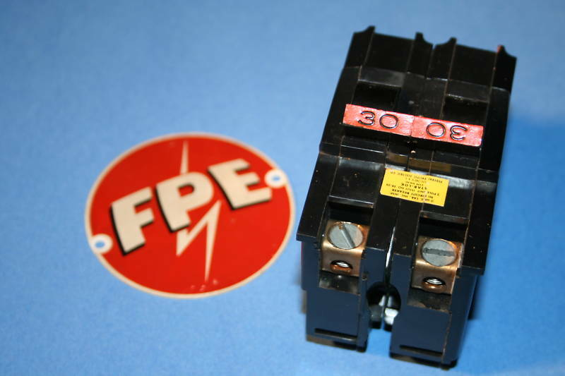 FEDERAL PACIFIC  30 AMP 2-POLE TYPE NA BREAKER WIDE