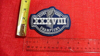 Super Bowl 38 NFL Patch New England Patriots Vs Carolina Panthers Houston Texas