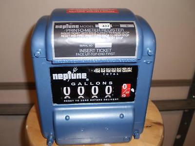 Neptune Meter Register Model 433 - 0 Warranty Fuel Oil Bio Diesel Gas Call