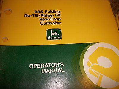 John Deere Operators Manual 885 Folding No-tillridge-till Row-crop Cultivator