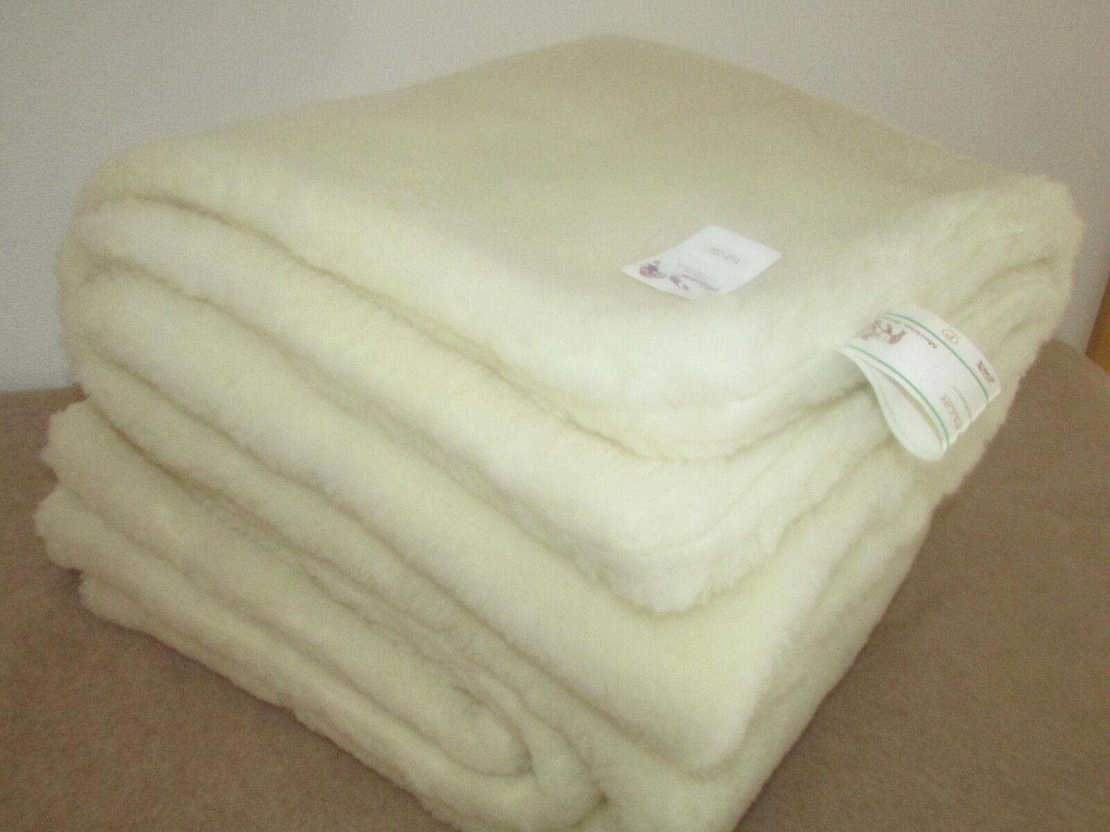 Bettdecke Oberbett gewendet Wolldecke Spielteppich Merinowolle, Made in Germany