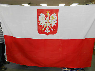 Polish Eagle Flag 6 ft x 9 ft Brand New Official Patriotic Double Side Polyester