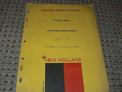 New Holland 368 Manure Spreader Dealers Parts Book