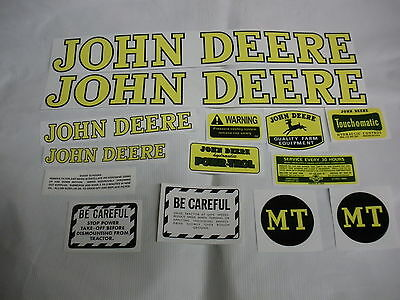 John Deere Model Mt Tractor Decal Set - New - Free Shipping